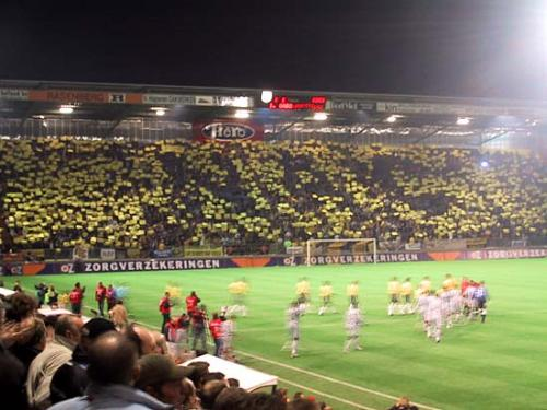 Foto Bordjesactie NAC - Newcastle